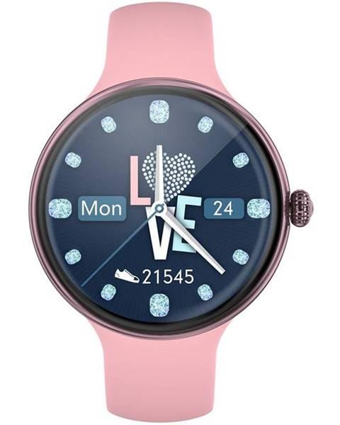 IMMAX Inteligentné hodinky Immax Lady Music Fit ružové