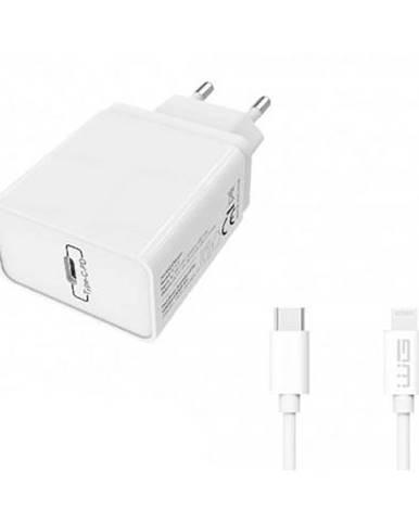 Nabíjačka do siete WG USB-C PD 20W + Lightning kabel 1m