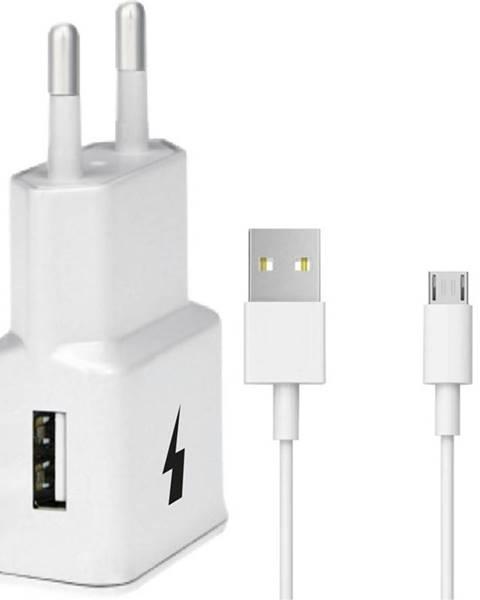 WG Nabíjačka do siete WG 1xUSB, QC 3.0 + Micro USB kabel biela