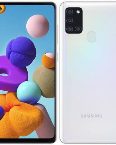 Mobilný telefón Samsung Galaxy A21s 64 GB biely