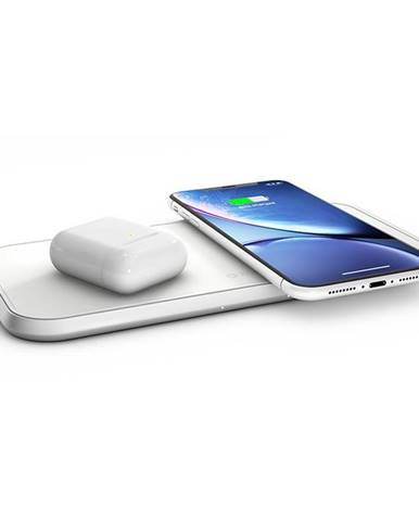 Bezdrôtová nabíjačka Zens Dual 10W biela