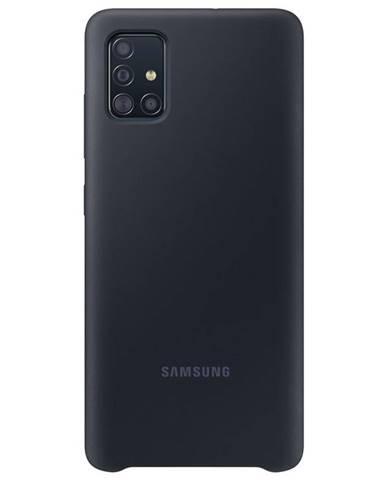 Kryt na mobil Samsung Silicon Cover na Galaxy A51 čierny