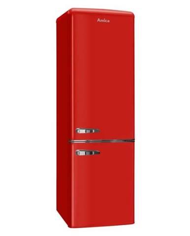 Kombinácia chladničky s mrazničkou Amica Retro Kgcr 387100 R červen