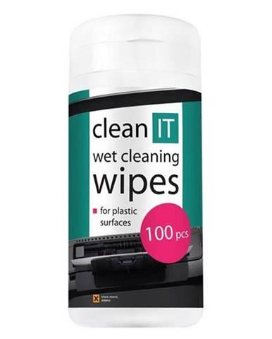 Čistiaca sada Clean IT mokré na plasty, 100ks