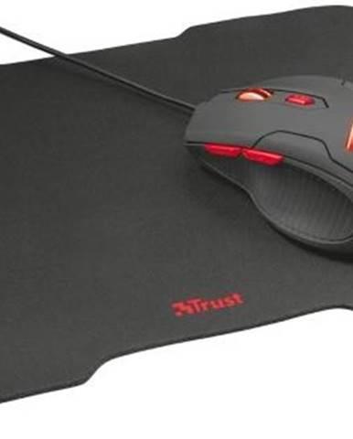 Myš  Trust Ziva + podložka pod myš čierna / optická / 6 tlačítek /