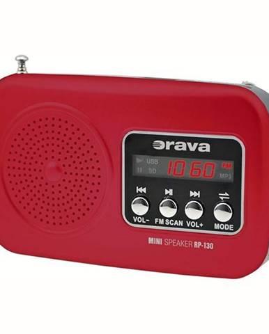 Rádioprijímač Orava RP-130 červen