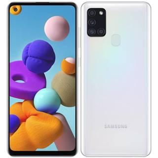 Mobilný telefón Samsung Galaxy A21s 128 GB biely