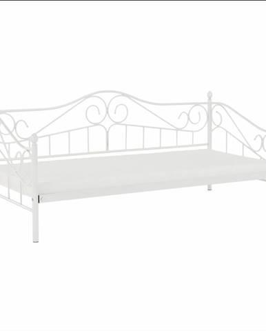 Kovová posteľ biela 90x200 DAINA