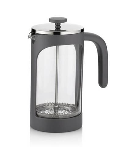 Konvička na čaj a kávu VERONA French Press 1 l sivá