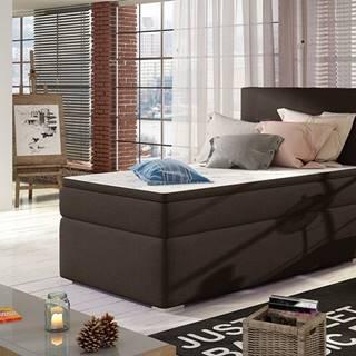 Rodrigo 90 L čalúnená jednolôžková posteľ s úložným priestorom tmavohnedá