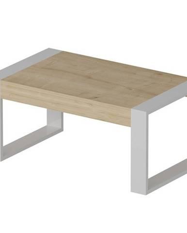 Konferenčný stolík RETRO dub/biela