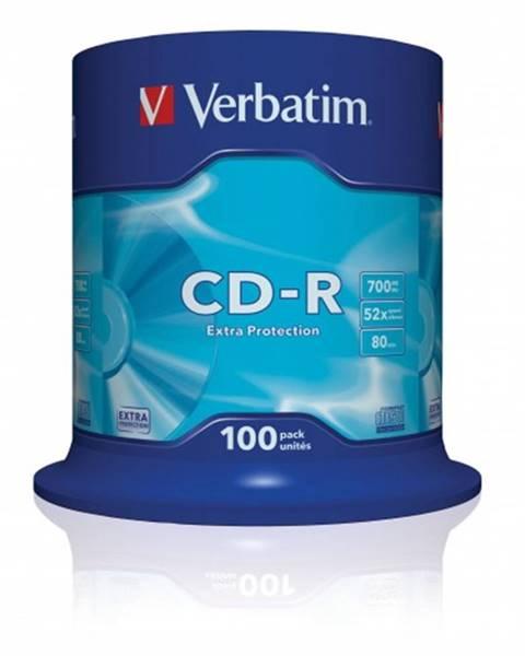Verbatim Disk Verbatim CD-R, 700MB, bez možnosti potlače, 100 ks 43411