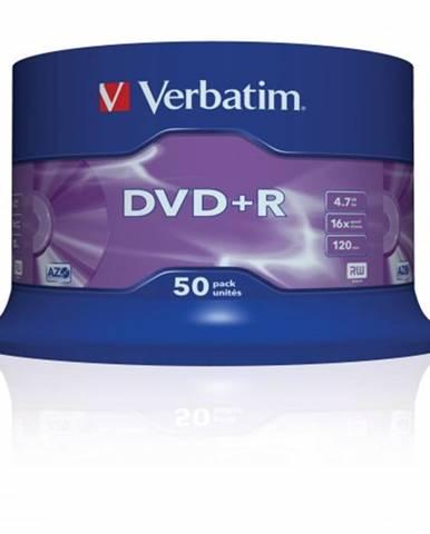 Disk Verbatim DVD+R, 4,7GB, bez možnosti potlače, 50 ks 43550