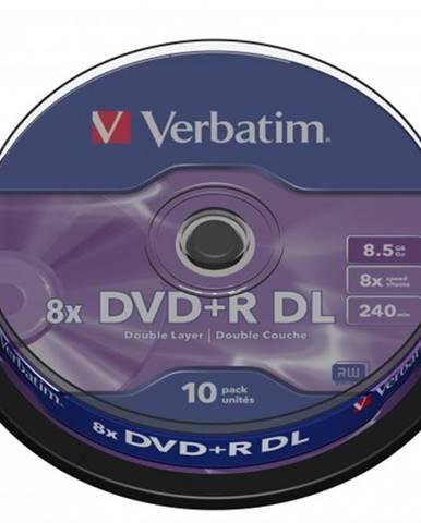 Disk Verbatim DVD+R, 8,5GB, bez možnosti potlače, 10 ks 43666