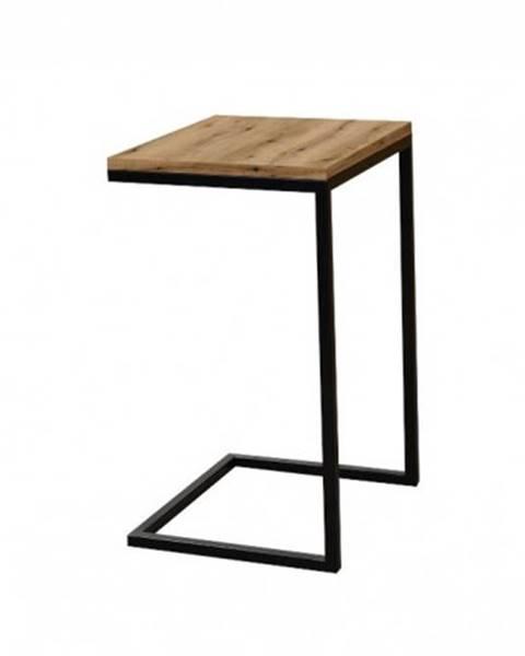 OKAY nábytok Prístavný stolík ST202008 dub / čierny
