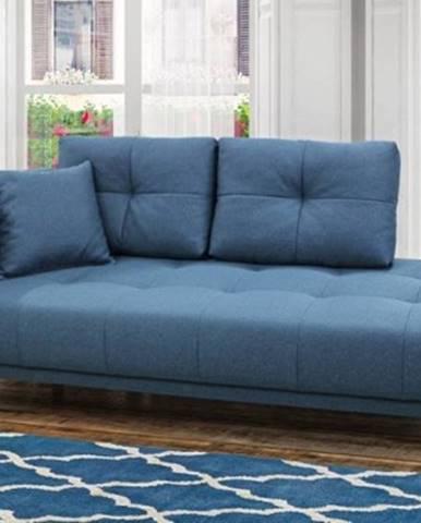 Leňoška Bony s úložným priestorom, ľavá strana, modrá