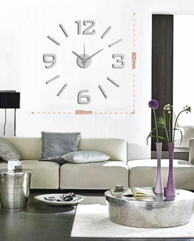 Nástenné hodiny - H19, 50 cm, sivá