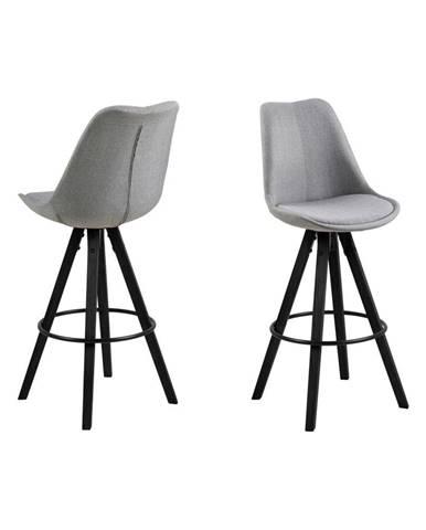 Sada 2 sivých barových stoličiek Actona Damia