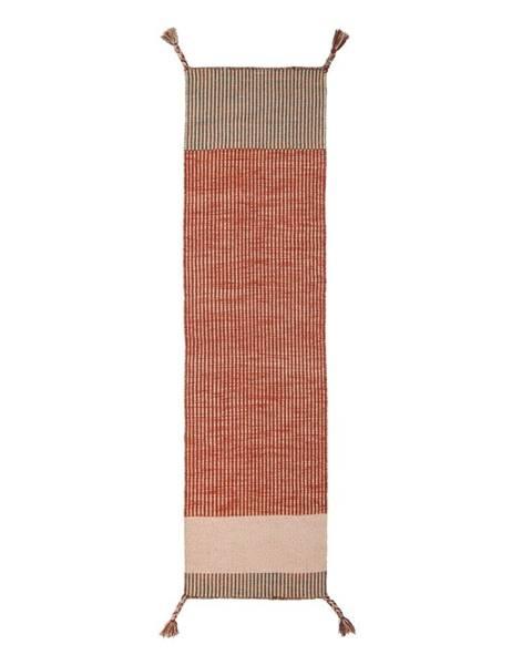 Flair Rugs Oranžový vlnený behúň Flair Rugs Anu, 60 x 200 cm