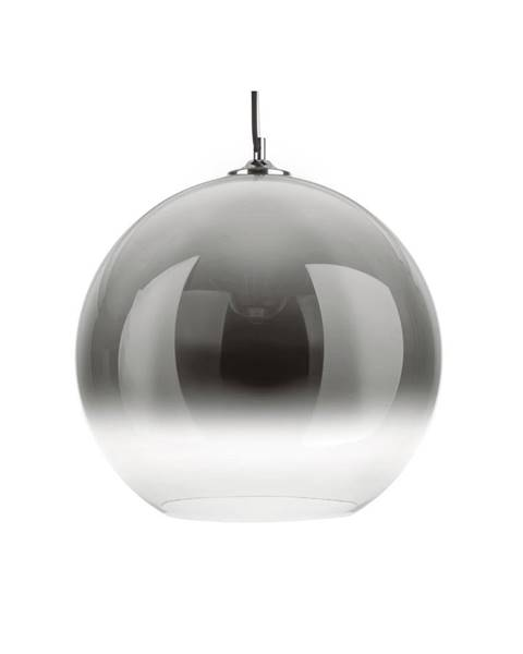 Leitmotiv Sivé sklenené závesné svietidlo Leitmotiv Bubble, ø 40 cm