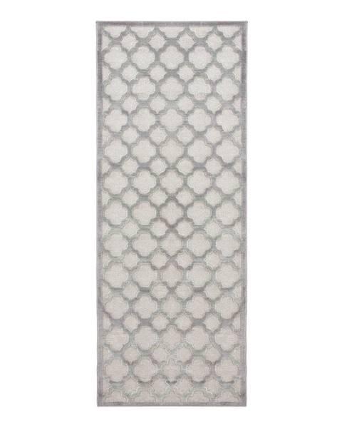 Mint Rugs Sivý behúň z viskózy Mint Rugs Bryon, 80 × 250 cm