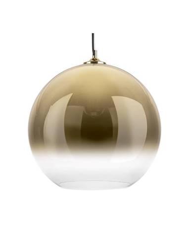 Sklenené závesné svietidlo v zlatej farbe Leitmotiv Bubble, ø 40 cm