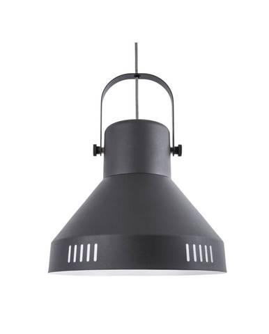 Čierne závesné svietidlo Leitmotiv Tuned Iron, ø 35 cm