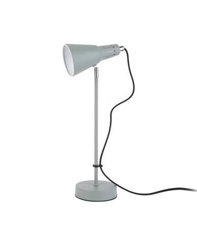 Sivozelená stolová lampa Leitmotiv Mini Cone, ø 16 cm