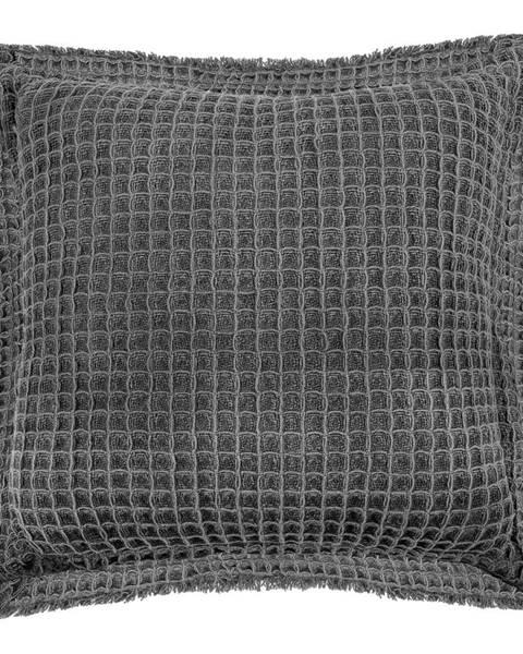 Tiseco Home Studio Sivý bavlnený dekoratívny vankúš Tiseco Home Studio Waffle, 45 x 45 cm
