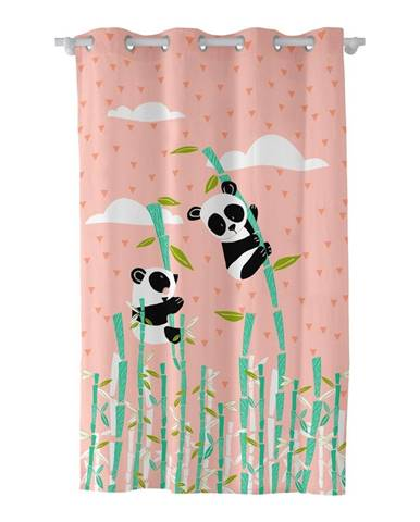 Záves Moshi Moshi Panda Garden, 135 × 180 cm