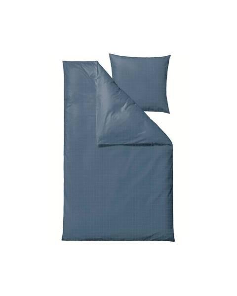 Södahl Modré damaškové obliečky na jednolôžko Södahl Clear, 140 x 220 cm