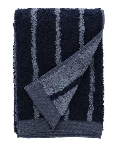 Södahl Modrý uterák z froté bavlny Södahl Stripes, 100 x 50 cm