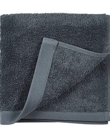 Modrý uterák z froté bavlny Södahl China, 100 x 50 cm