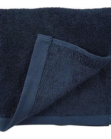 Modrý uterák z froté bavlny Södahl Indigo, 100 x 50 cm
