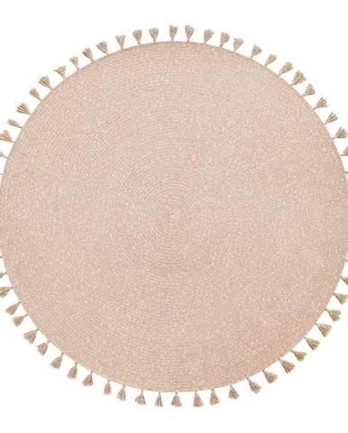 Béžový ručne vyrobený koberec Nattiot Heloise, ∅140 cm