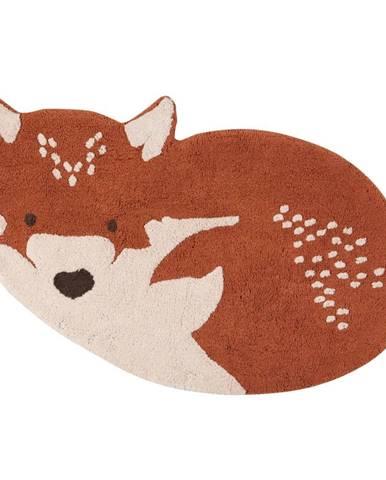 Gaštanovohnedý bavlnený koberec Nattiot Renard, 70×110 cm
