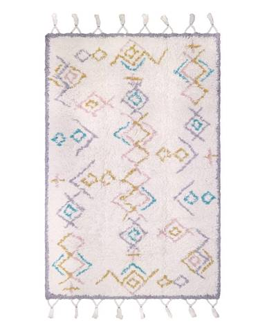 Pestrý bavlnený ručne vyrobený koberec Nattiot Milko, 100 x 160 cm