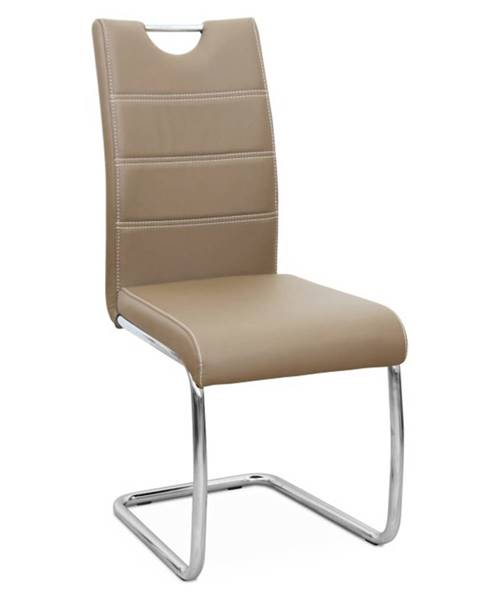 Kondela Jedálenská stolička capuccino/svetlé šitie ABIRA NEW