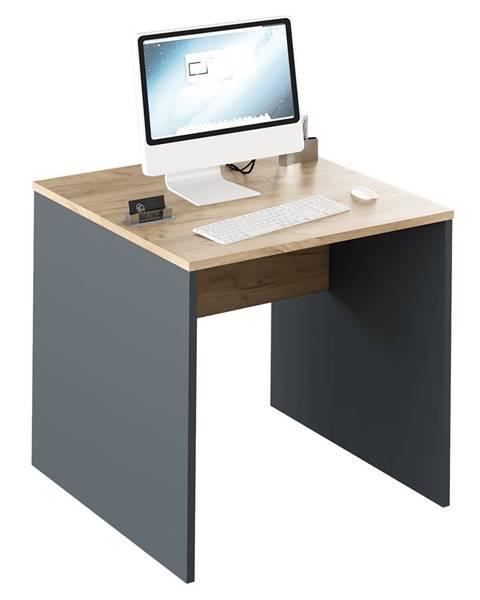 Tempo Kondela Písací stôl grafit/dub artisan RIOMA NEW TYP 17