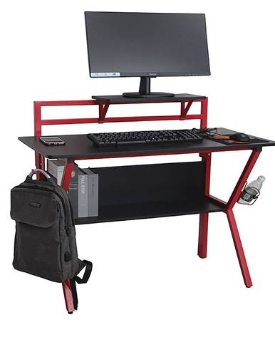 PC stôl/herný stôl červená/čierna TABER