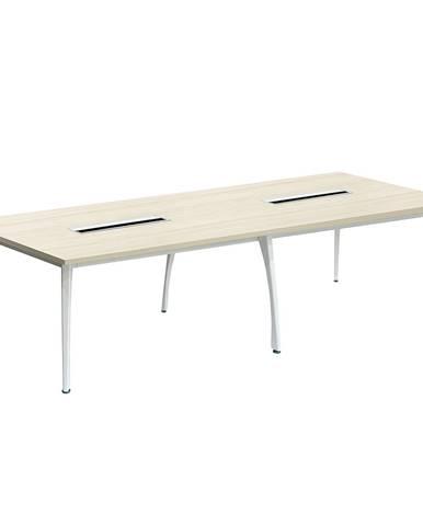 Rokovací stôl dub prírodný/biela DOLEN