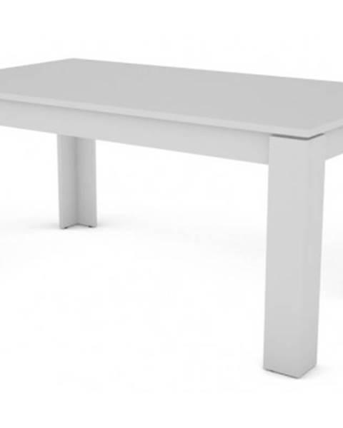 ASKO - NÁBYTOK Jedálenský stôl Inter 160x80 cm, biely, rozkladací%