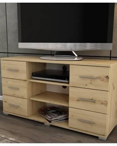 Vysoký TV stolík Oskar TV, dub artisan, výška 65 cm%