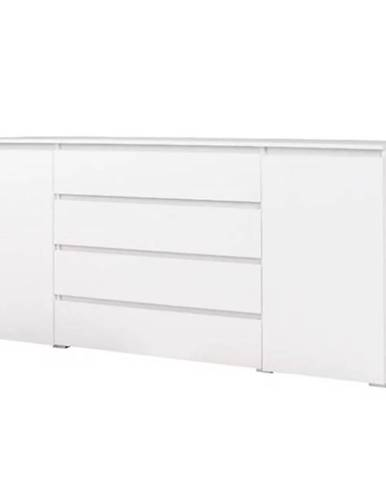 Komoda Cosmo C06 4 šufliky biele