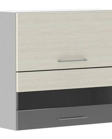 Skrinka do kuchyne Next WS80 GR F/2 SP bielená jedľa Douglas/antracit lesk