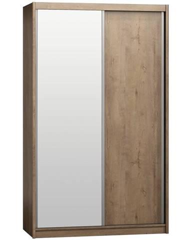 Skriňa Karol 143 s zrkadlom dub lefkas