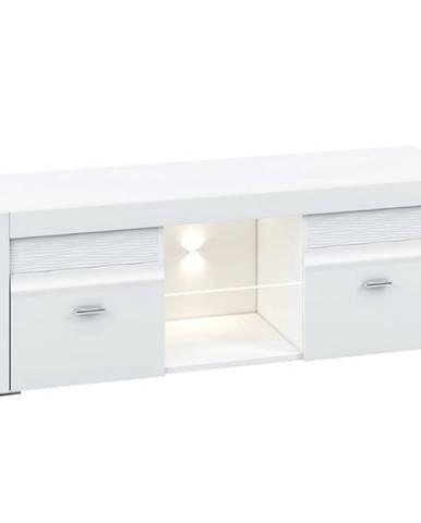 Skrinka RTV 138 Arko biela lesklá