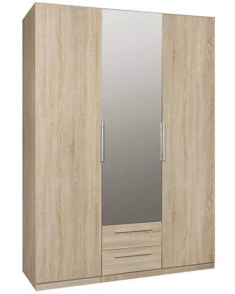 MERKURY MARKET Skriňa Cadixo 150 2D2S1L Dub Sonoma/zrkadlo