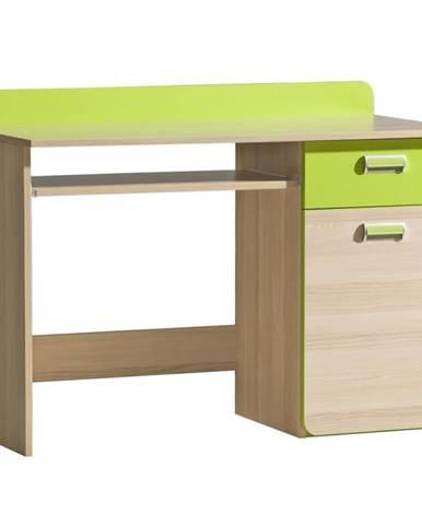 Písací stôl 10 Lorento Limetkovo Zelená/Jasan Coimbra
