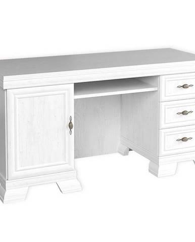 Písací stôl  Kora KB biely